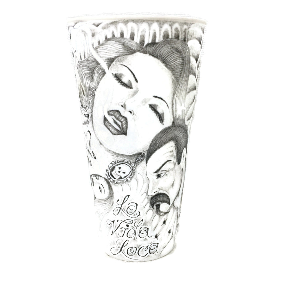 Iron Wood Prison So. Siders La Vida Loca Cup Prison Art Tattoo Art