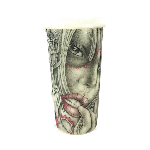 Large Prison Art Tattooed Tupperware Direct From Inmate