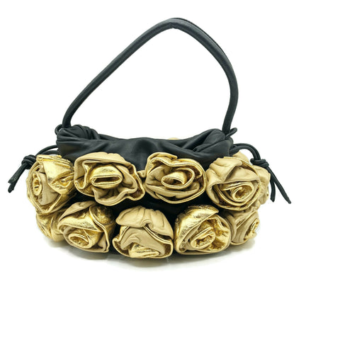 Vintage Jennifer Tattenelli Golden Roses Evening Bag w/ cover bag