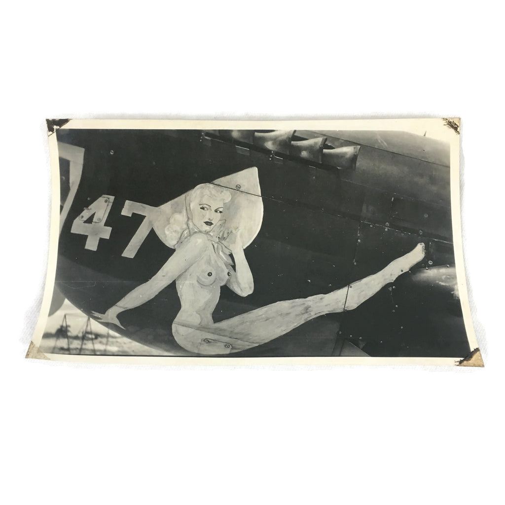 Vintage Original WW2 Warplane Nose Art Photo