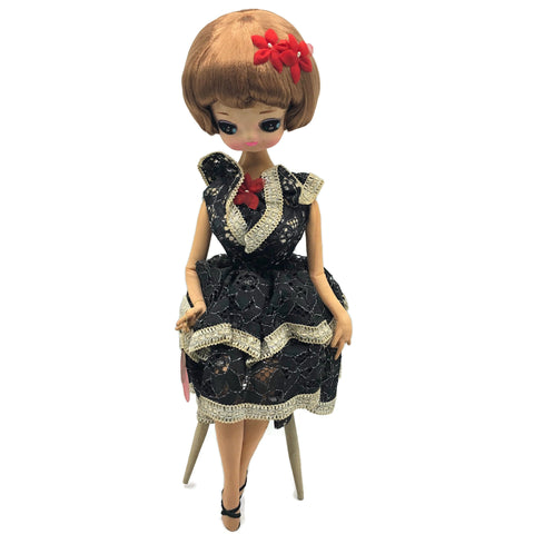 Vintage 1960's Blythe Style Big Eye Treasure Doll