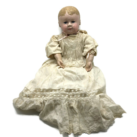 Antique Martha Chase Type Oil Cloth baby Doll