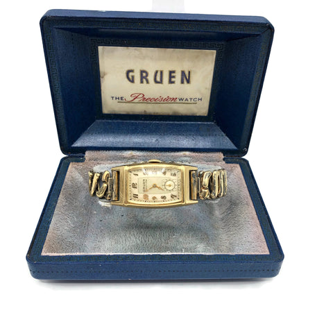 Vintage Gruen Curvex Precision Gold Filled Men's Wristwatch