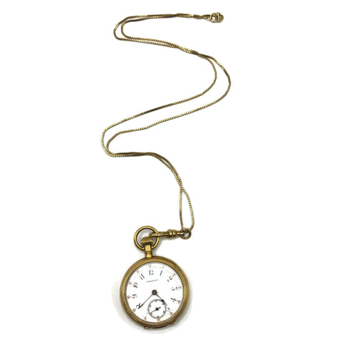 Vintage Tiffany & Co. 18K Small Pocket Watch W/ 14K Necklace Chain