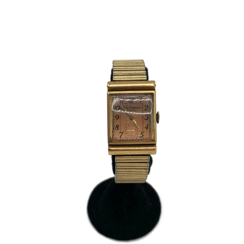 Vintage Working 14K Gold Jules Jurgensen Wristwatch