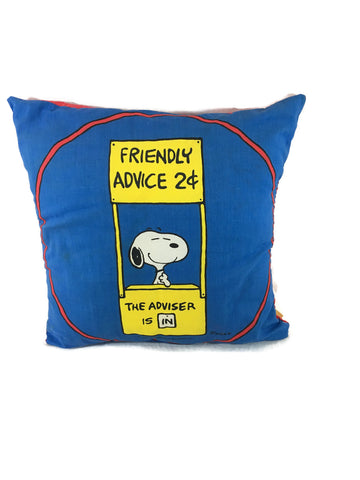 Vintage Peanuts Snoopy Pillow