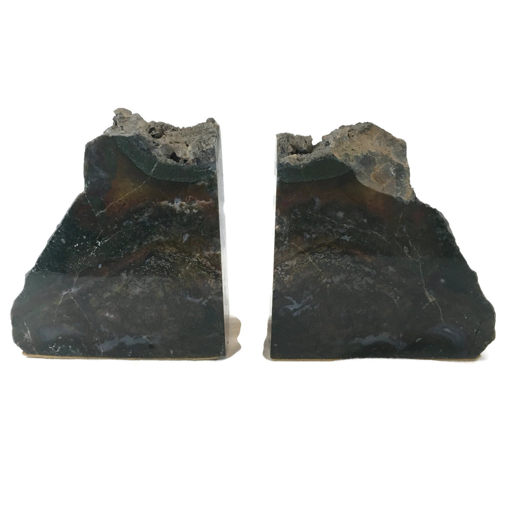 Pair of vintage Petrified Wood Bookends