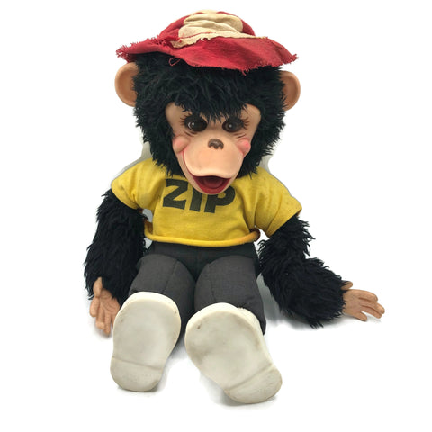 "Vintage 1950's Rushton ""Zippy"" Chimp Doll"