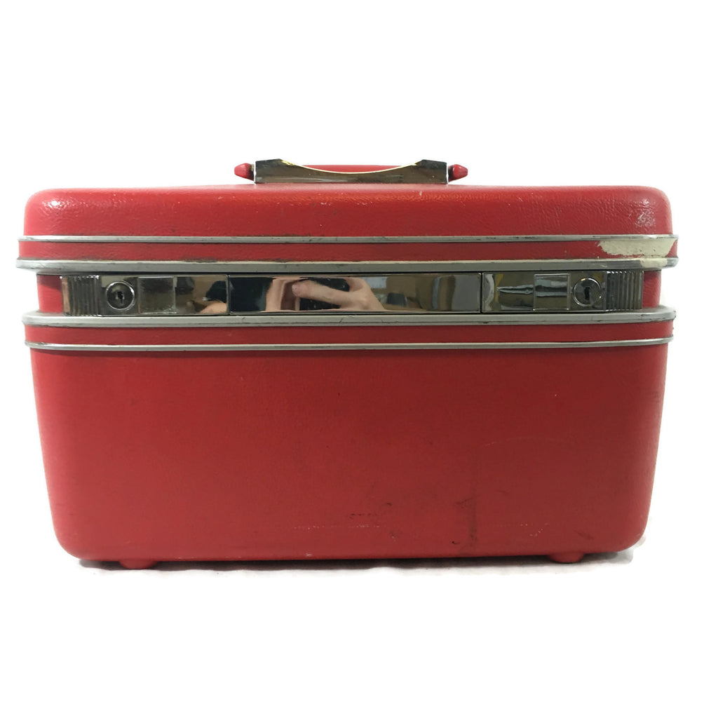 Vintage Red Samsonite Overnight Train Case