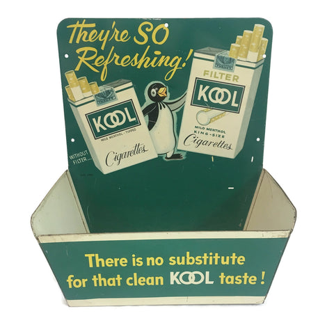 Vintage Kool Cigarettes Display 1950's