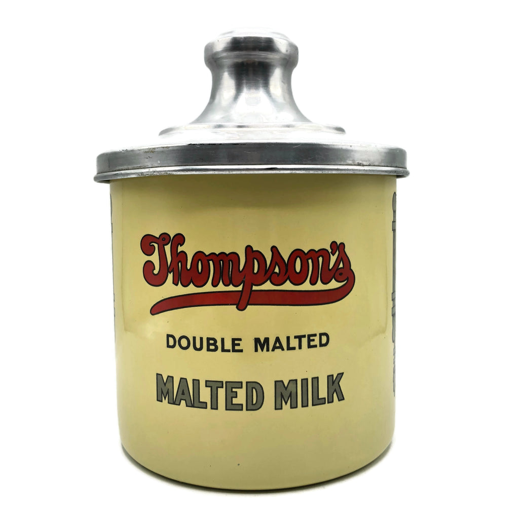 Vintage Thompson's Double Malted Milk Can