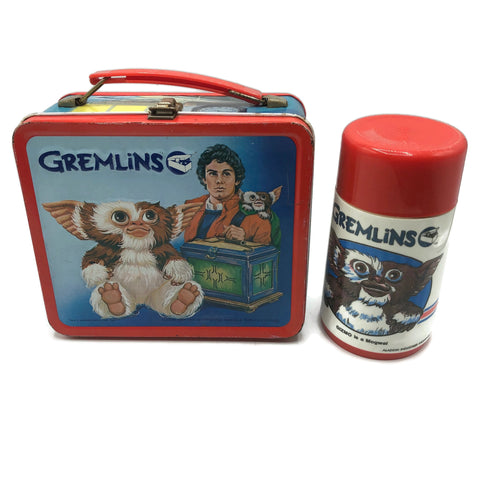 Vintage 1984 Gremlins Lunch Box & Thermos Set