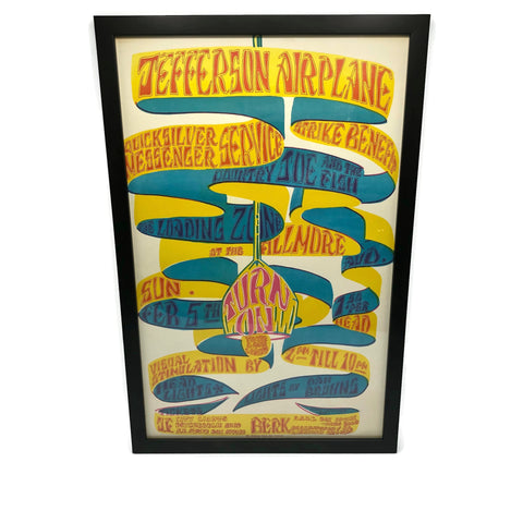 Original Vintage 1966 Blind Weed Press Jefferson Airplanes Poster