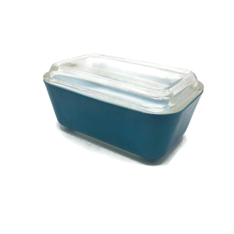 Vintage Blue Pyrex Refrigerator Container