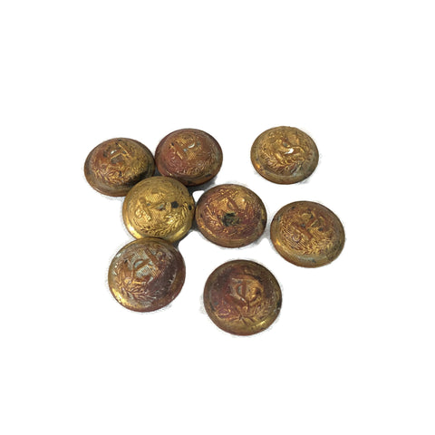 Lot of 8 Antique Civil War Era Naval Buttons