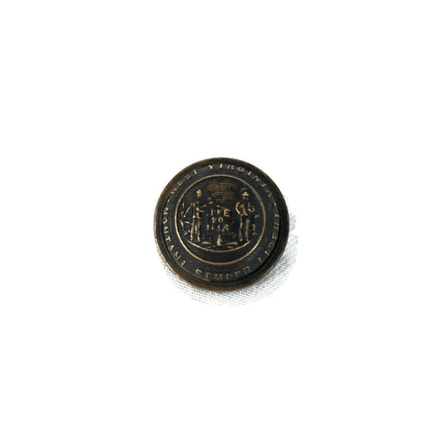 Antique 1896 West Virginia Post Civil War Button