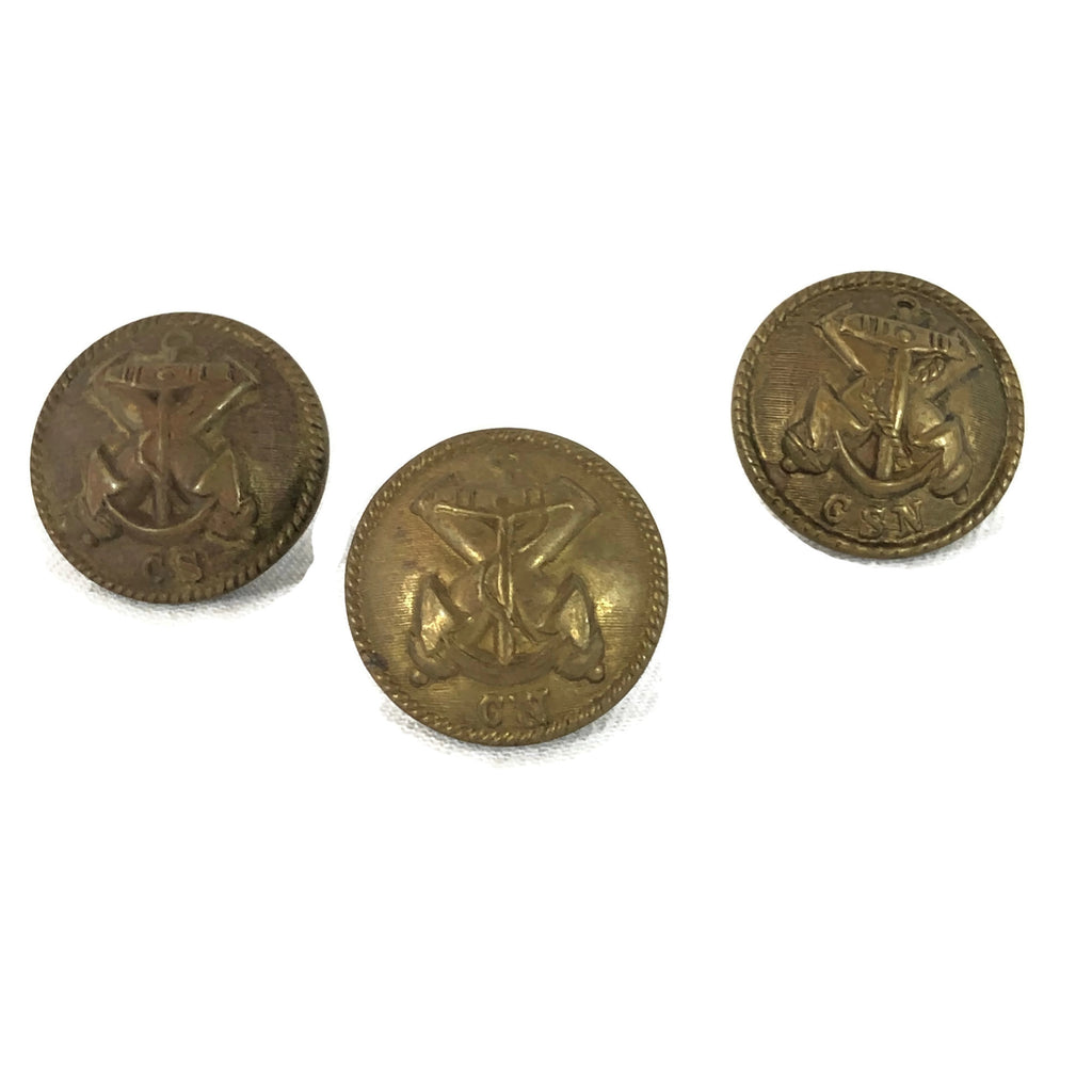 Antique English Manufactured Confederate Navy Buttons