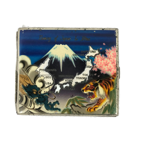 Vintage 1950's painted Japan Cigarette Case