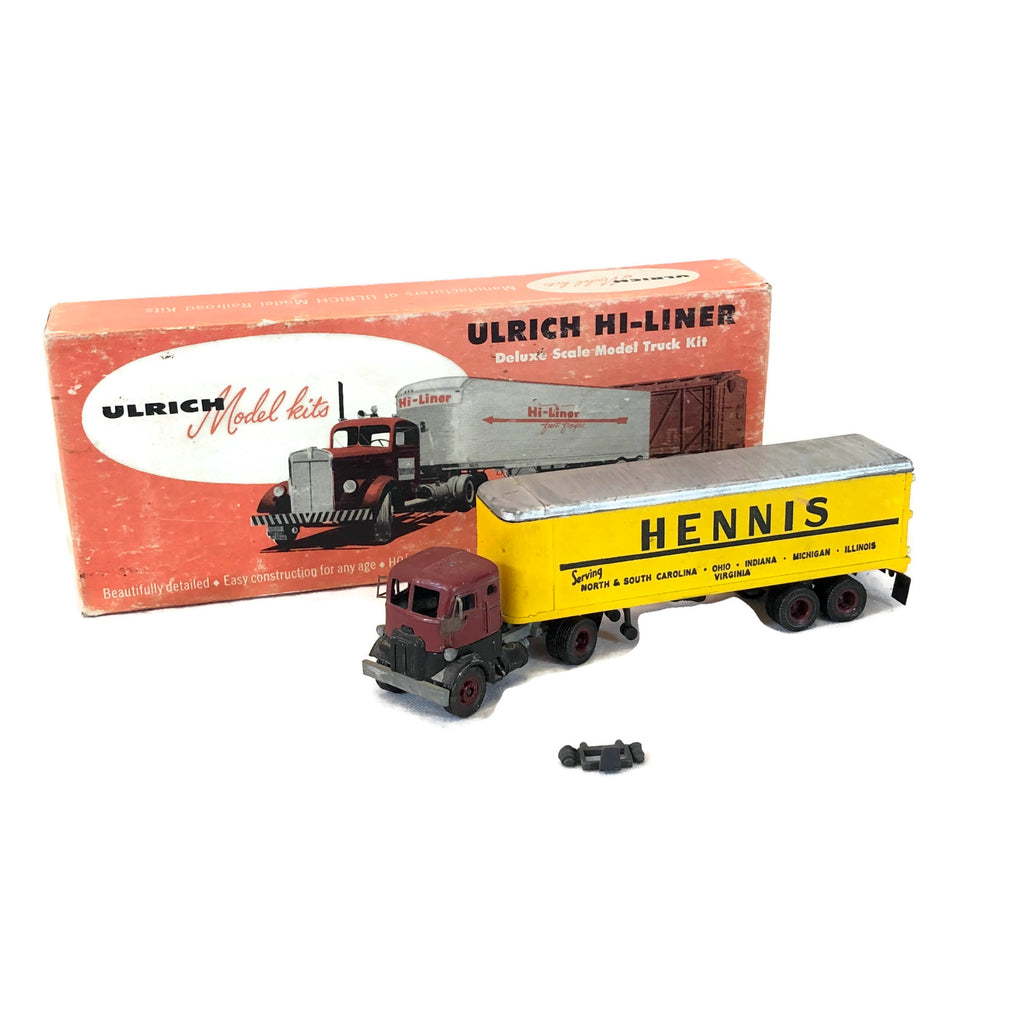 Vintage Ulrich Hennis Toy Truck With Box