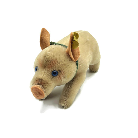 Vintage Steiff Piggy Stuffed Animal W/ Tag