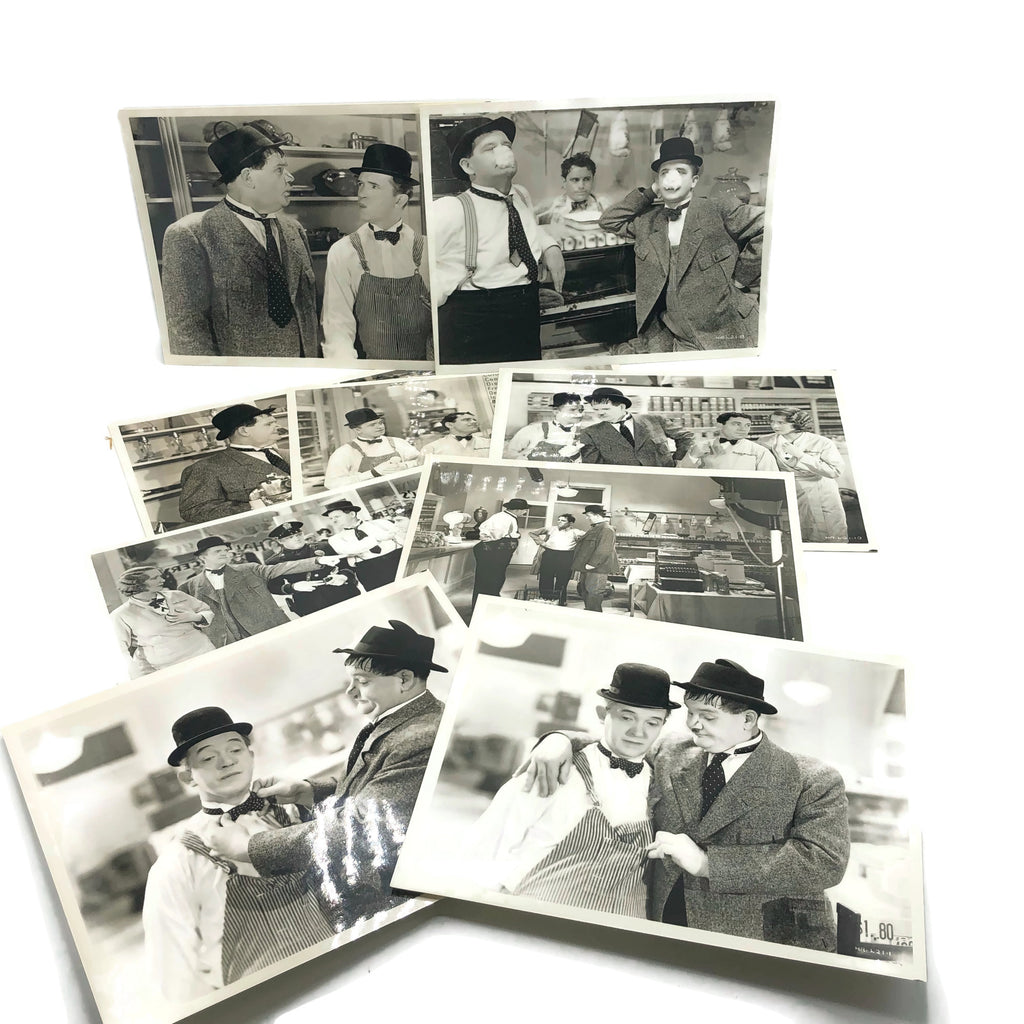 Vintage New Mint Condition  Laurel & Hardy Stills From Tit For Tat