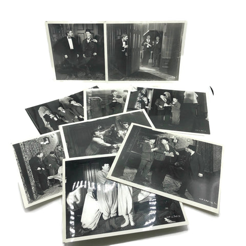 Vintage New Mint Condition  Laurel & Hardy Stills From Murder Case
