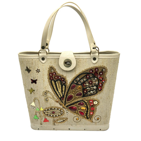 Vintage Embellished Butterfly Purse