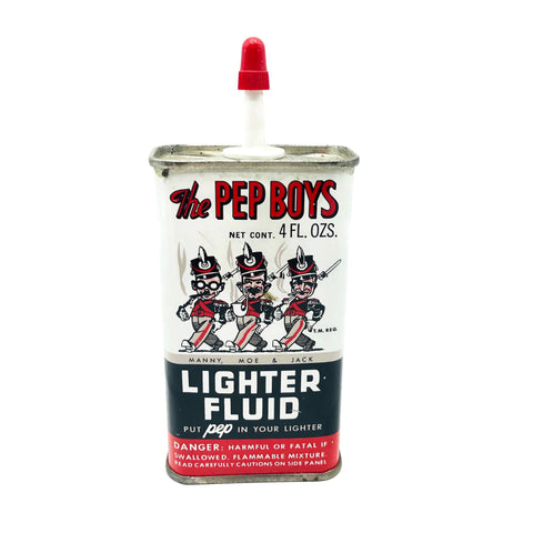 Vintage 1950's/1960's Pep Boys Lighter Fluid Tin
