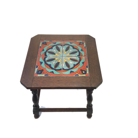 Vintage 1930's Taylor Tile Top Mahogany Table