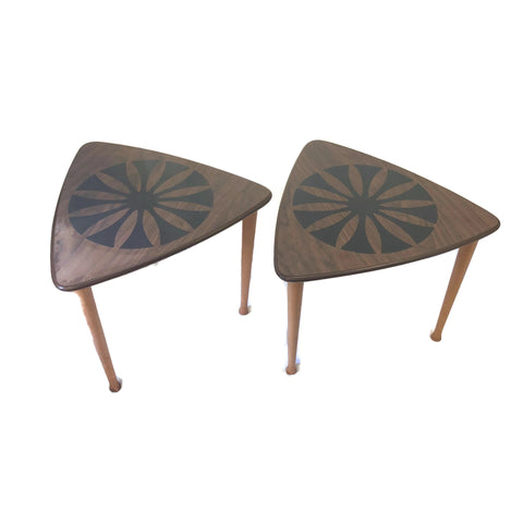 Pair of vintage Guitar Pick Stacking End Side Tables