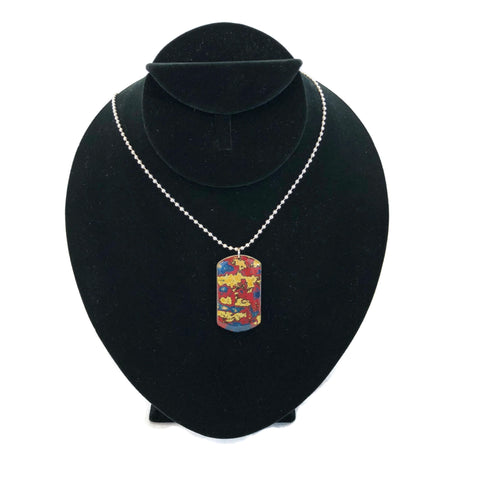 Rebel Nell Graffiti Art Dog Tag Style Necklace