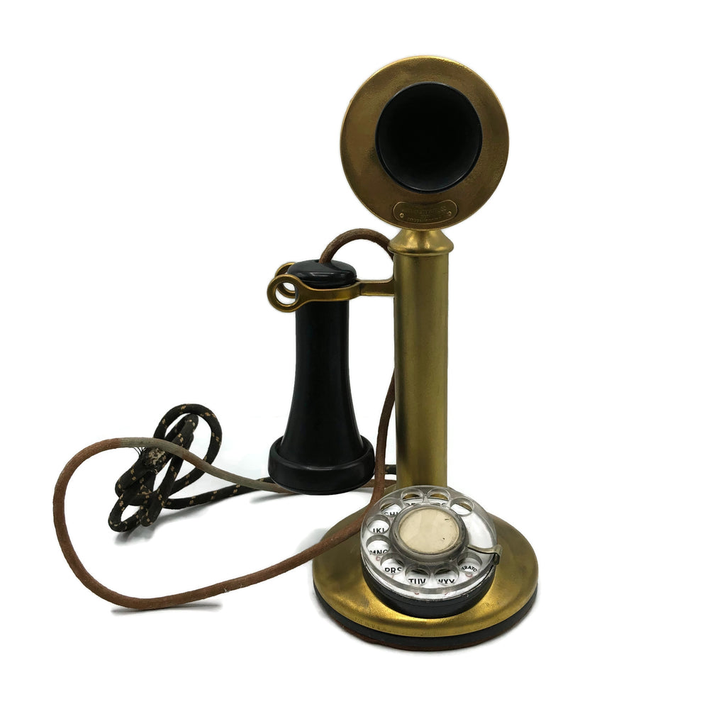 Vintage 1920's Organic American Telephone Co. Candle Stick Phone