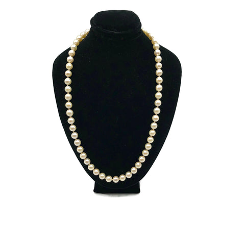 Vintage Cultured Pearl necklace With 14K Clasp