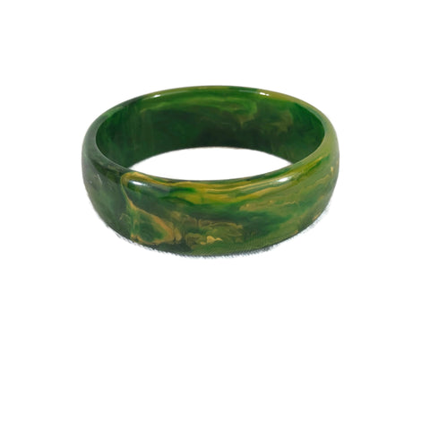 Green & Yellow Marbled Bakelite Bangle