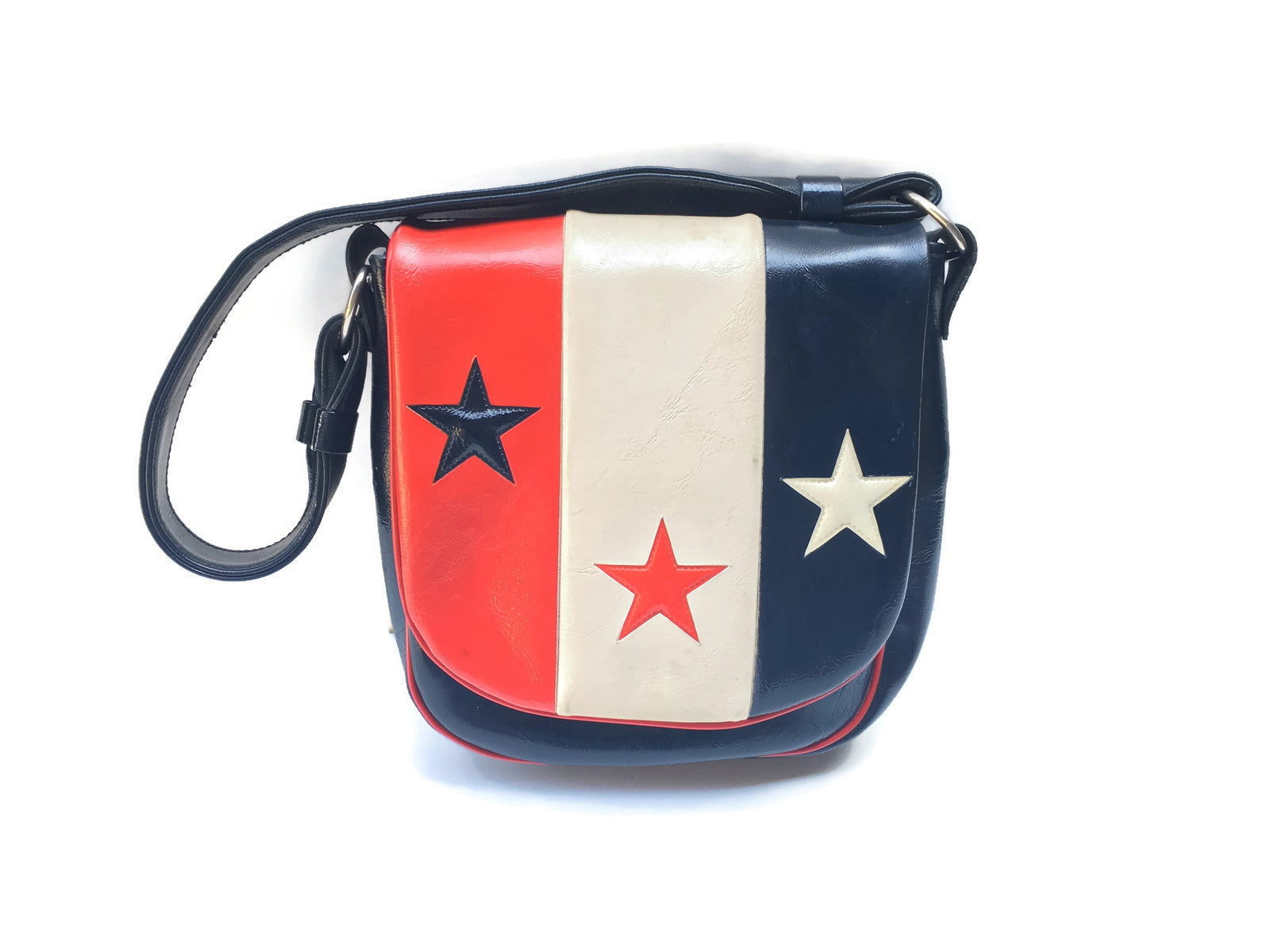 Red White Blue Leather Purse Long Beach Antique Mall