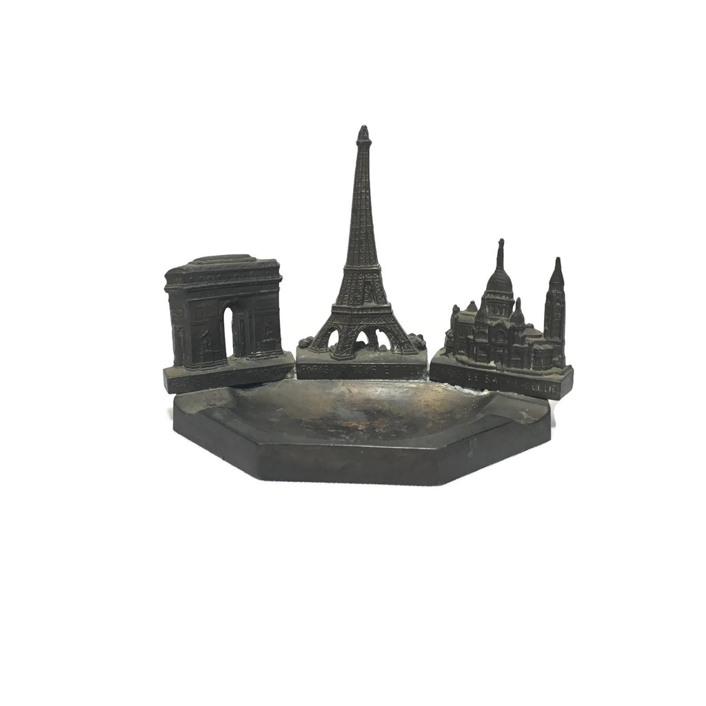 Vintage Paris Eiffel Tower Scare Coeur Arc De Triomphe Ashtray