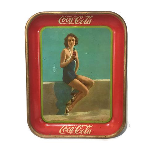 """Frances Dee"" Movie Star 1932 Coca-Cola Tray"