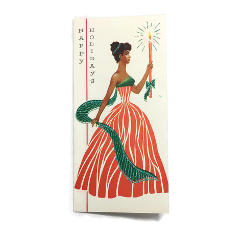 Vintage Black Americana African American Holiday Greeting Card