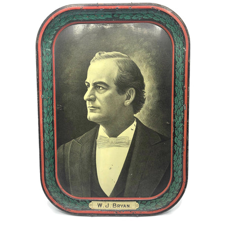 Antique William Jennings Bryan Memorial Tin Litho Tray Circa 1925