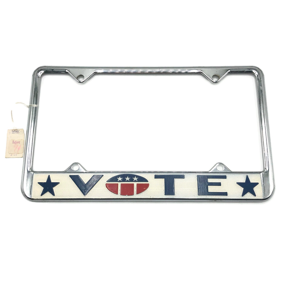 Vintage Vote License Plate Frame
