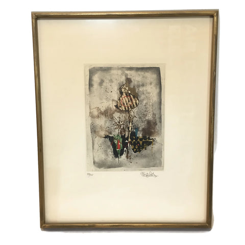Vintage Johnny Friedlander Etching Signed & Numbered
