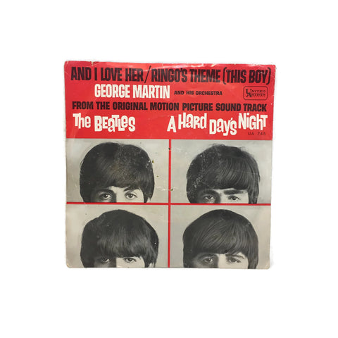 Vintage 45 Vinyl 1964 The Beatles + George Martin