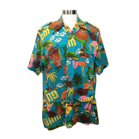1970's Pop Art Guam Hawaiian Style Shirt