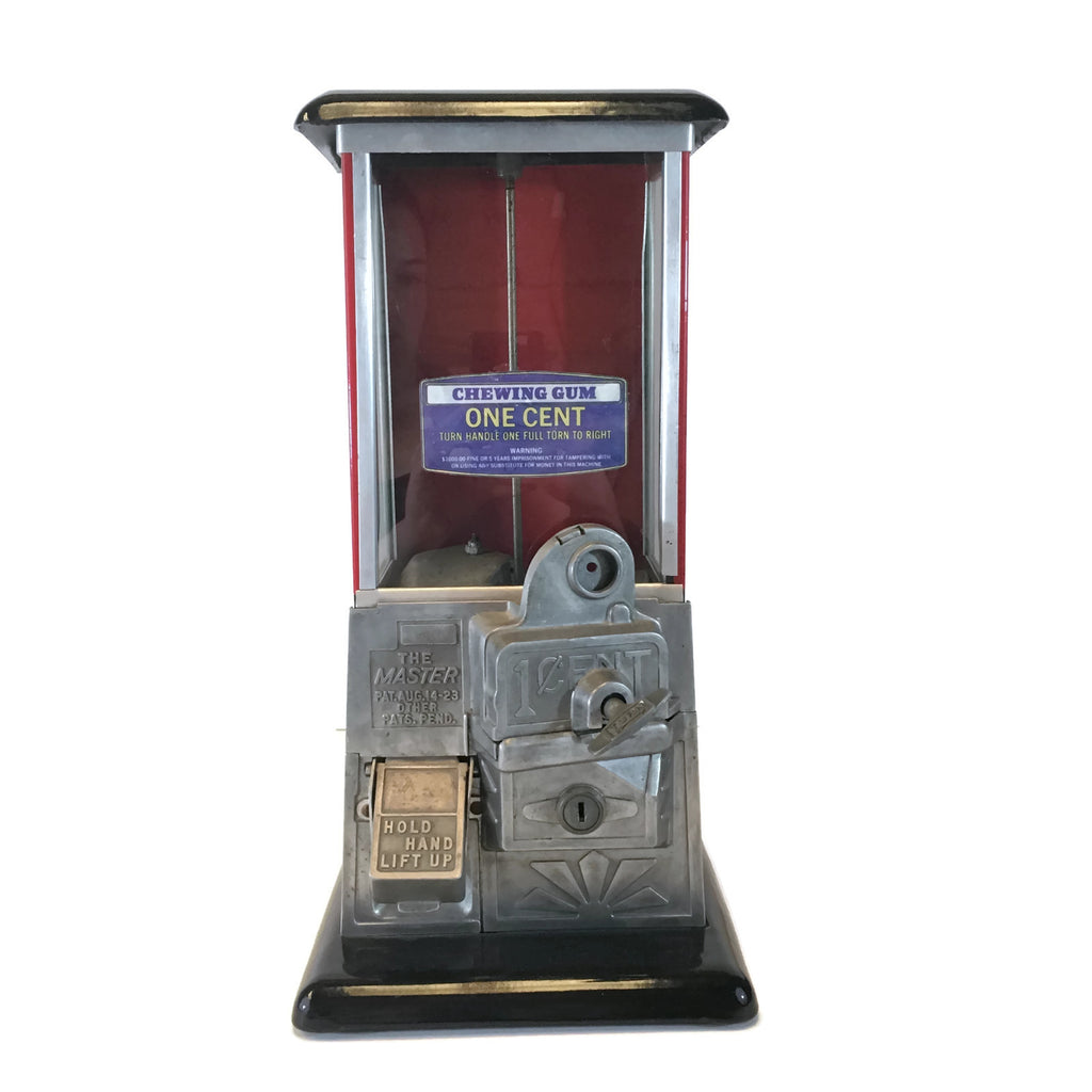 1930's Original Master 1 cent Gumball Machine