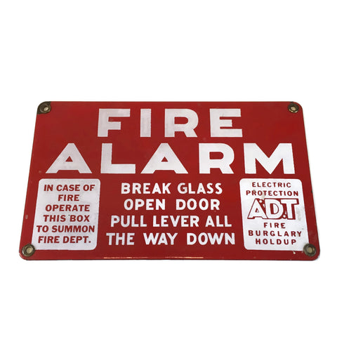 Vintage Porcelain Fire Sign