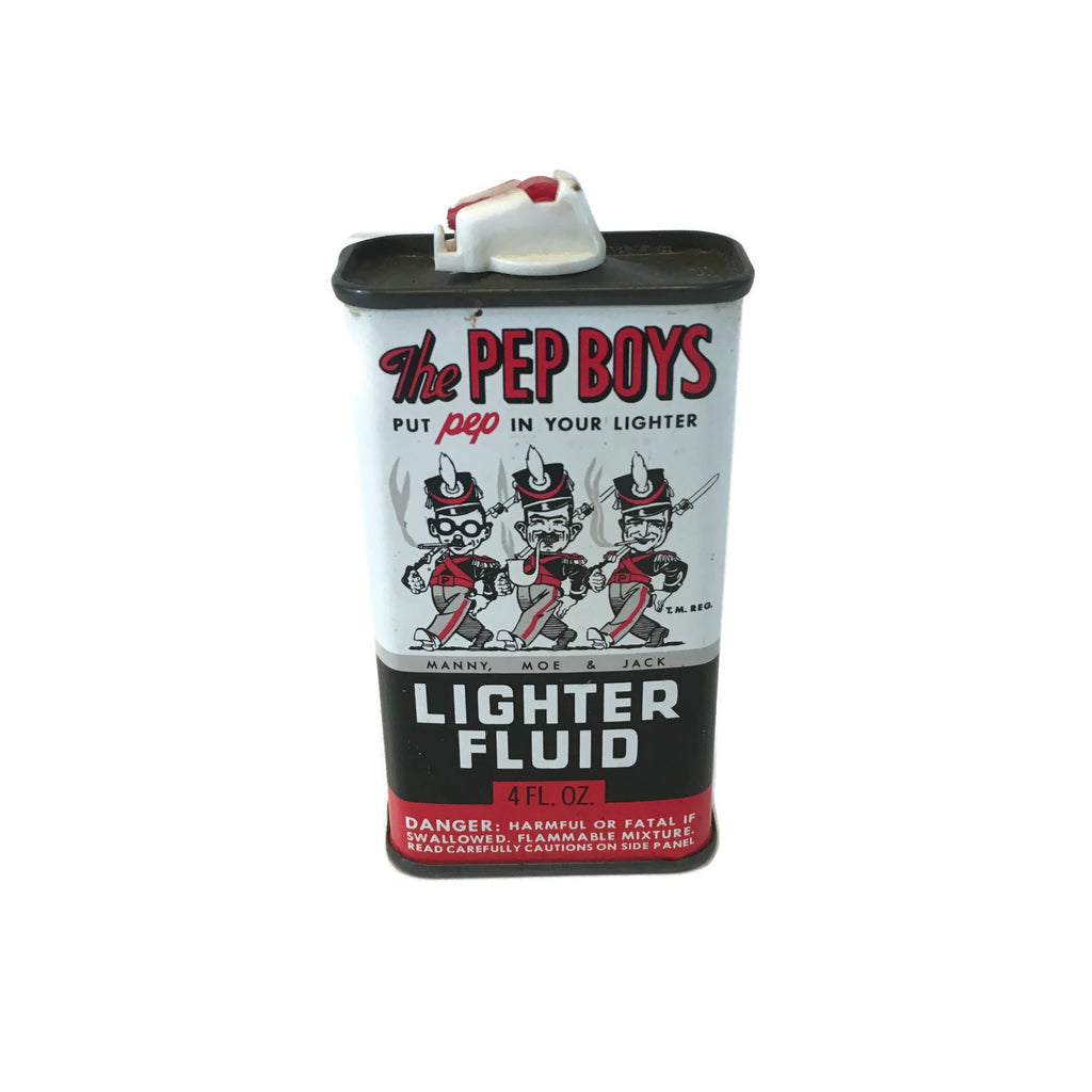 Vintage Pep Boys Lighter Fluid Tin