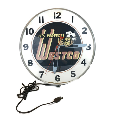 Vintage Rare  Westco Clock Working Condition