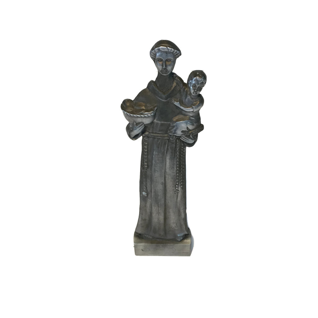 Cast Steel Statue Of St. Anthony (Finder of The Lost Articles)