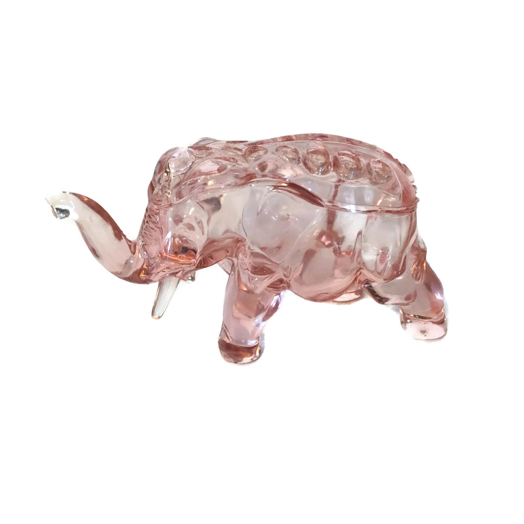 Pink Depression Glass Flower Frog