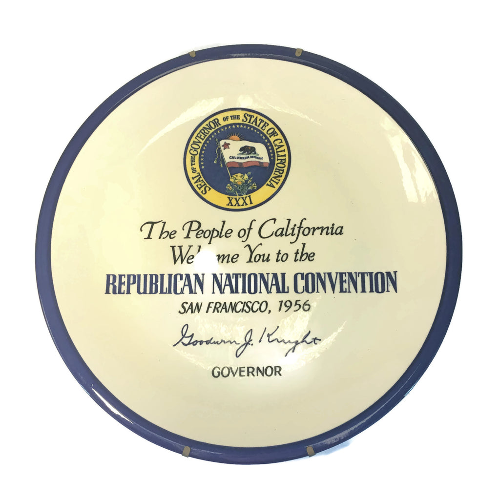 Vintage 1956 Republican national Convention Vernon Kilns Plate